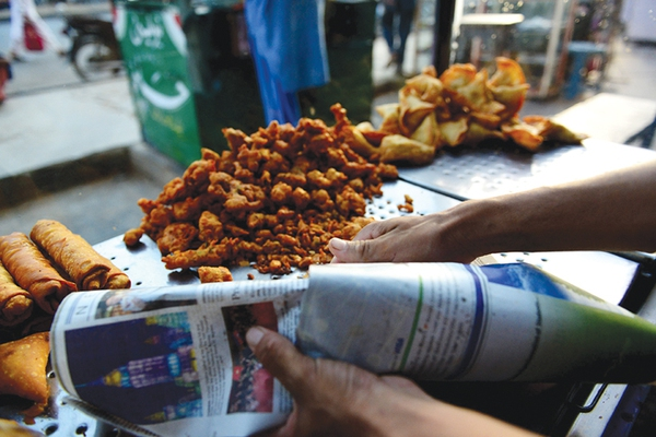newspaper food packages