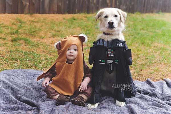bộ ảnh bé và cún cưng 1