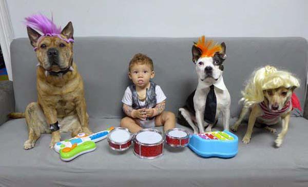 bộ ảnh bé và cún cưng 3
