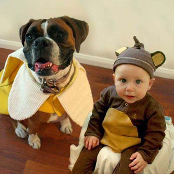 bộ ảnh bé và cún cưng 7