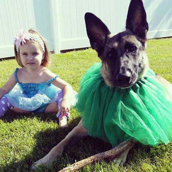 bộ ảnh bé và cún cưng 9