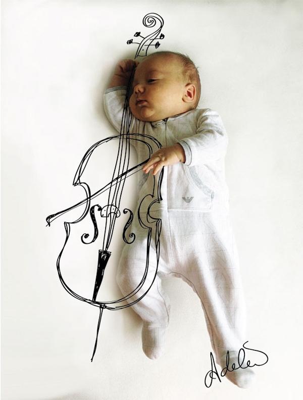 Thêm một bà mẹ biến giấc ngủ của con thành nghệ thuật 12