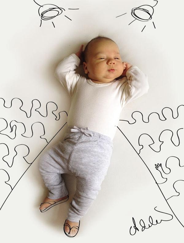 Thêm một bà mẹ biến giấc ngủ của con thành nghệ thuật 18