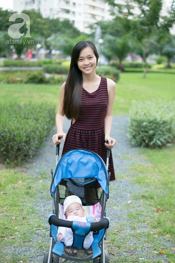 Cựu hot girl Diệp Bảo Ngọc mộc mạc với vai trò làm mẹ 5