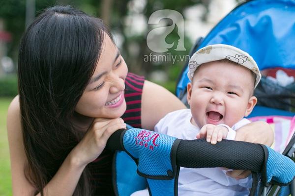 Cựu hot girl Diệp Bảo Ngọc mộc mạc với vai trò làm mẹ 7