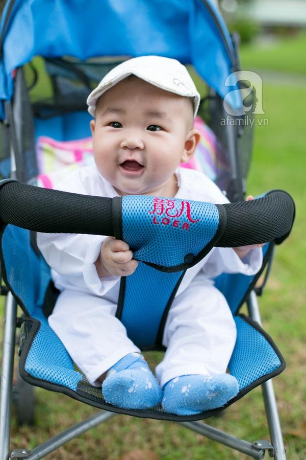 Cựu hot girl Diệp Bảo Ngọc mộc mạc với vai trò làm mẹ 8