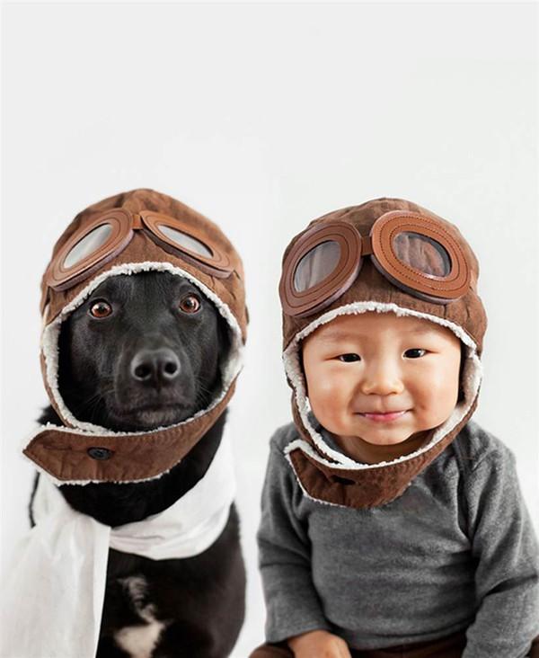 Ngất ngây với chùm ảnh bé và cún cưng mặc đồng phục 3