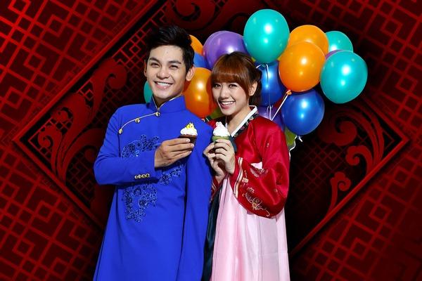 Hari Won mặc hanbok đáng yêu bên Sơn Ngọc Minh 2