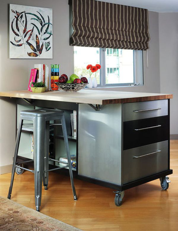 Bàn di động đa năng - nội thất tuyệt vời cho gian bếp nhỏ 4