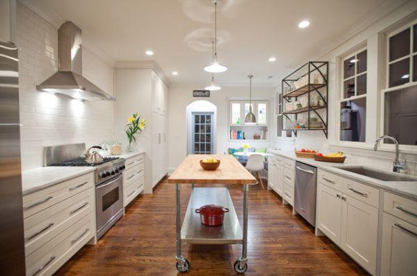 Bàn di động đa năng - nội thất tuyệt vời cho gian bếp nhỏ 6