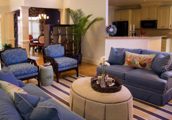 5 gợi ý phối đồ nội thất siêu đẹp với màu xanh lam 1