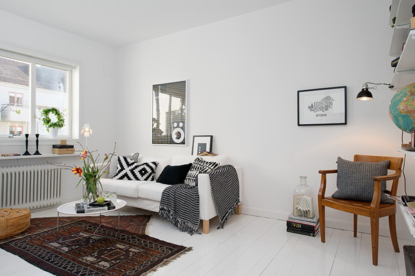Ghé thăm căn hộ 41m² trắng sáng mà không đơn điệu 3