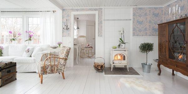 Ngắm ngôi nhà lãng mạn với tông màu trắng - xanh 5