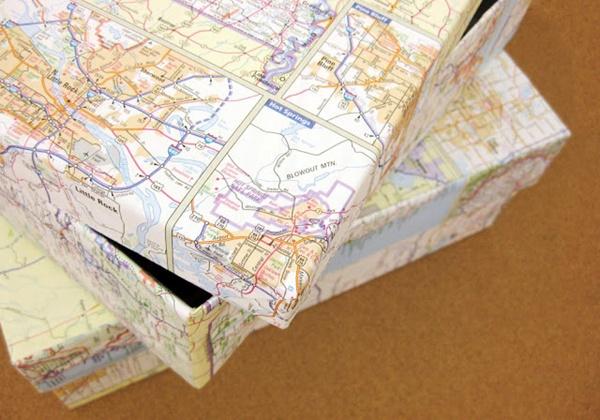 7 cách trang trí nhà cực ấn tượng từ bản đồ cũ 4