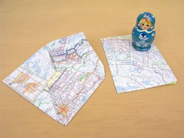 7 cách trang trí nhà cực ấn tượng từ bản đồ cũ 9