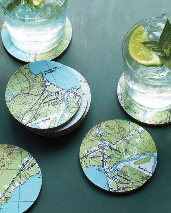 7 cách trang trí nhà cực ấn tượng từ bản đồ cũ 8