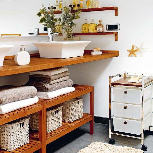 5 loại kệ lưu trữ khăn tiện dụng trong phòng tắm 4