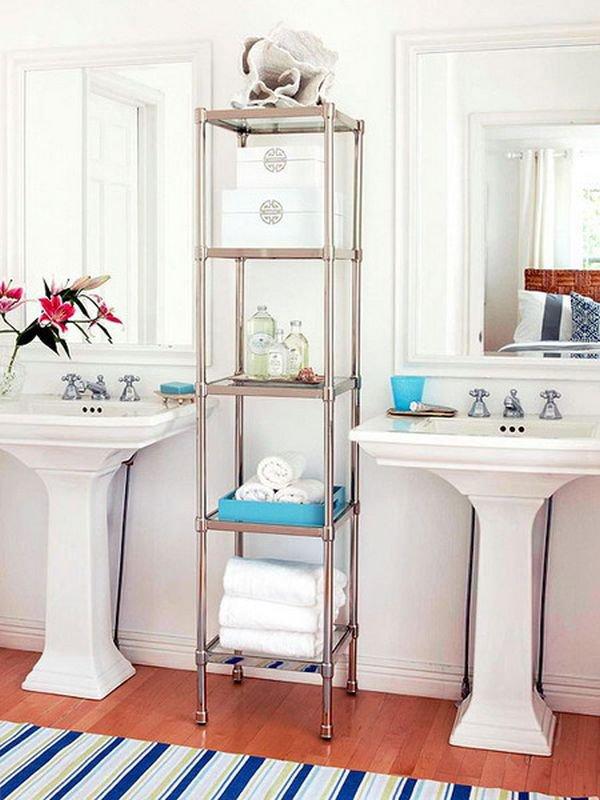 5 loại kệ lưu trữ khăn tiện dụng trong phòng tắm 6