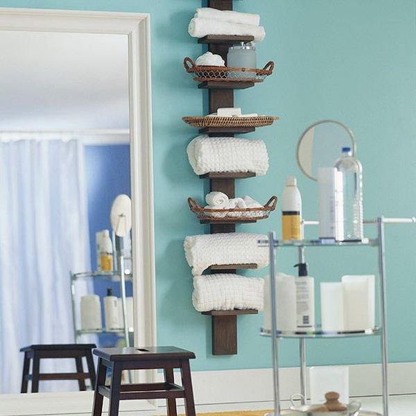 5 loại kệ lưu trữ khăn tiện dụng trong phòng tắm 11