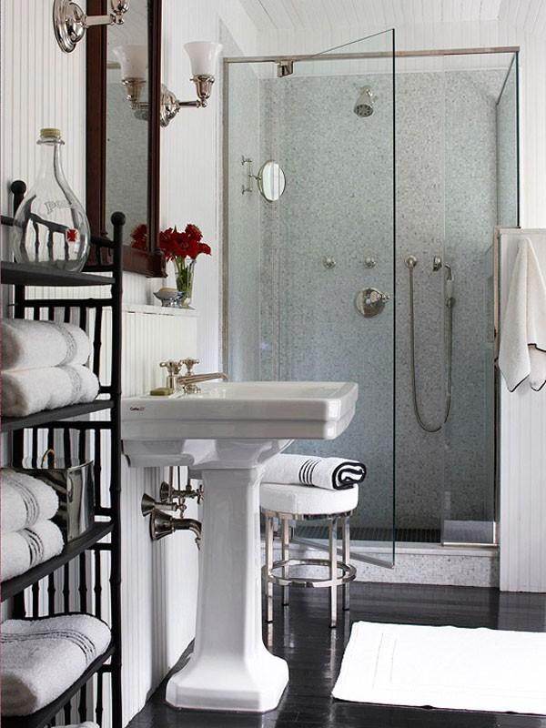 Mẹo bài trí đẹp và độc cho phòng tắm nhỏ  7