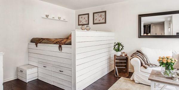 Căn hộ có giường ngủ nằm trong phòng khách mà vẫn riêng tư 4