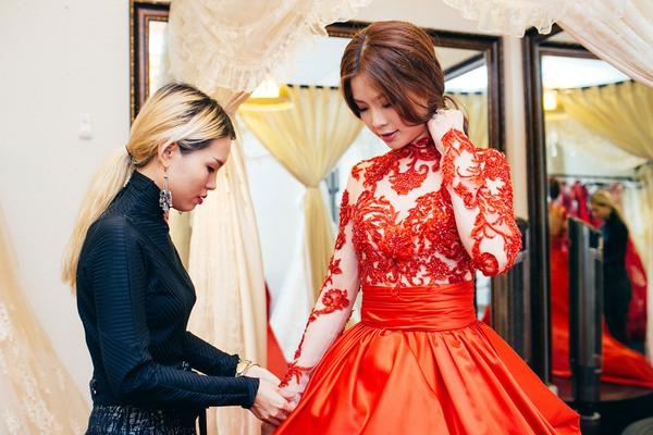 váy cưới Á hậu Diễm Trang