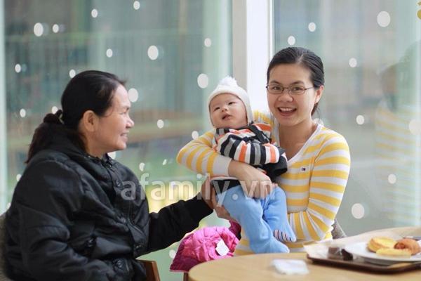 Gặp bà mẹ xinh xắn và chăm con rất khéo 4