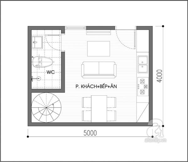 Tư vấn cải tạo và thêm phòng ngủ cho ngôi nhà 20m² 1