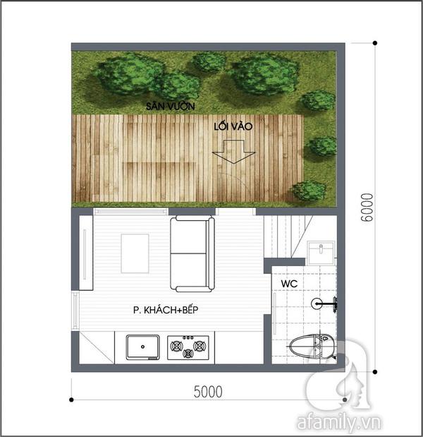 Tư vấn thiết kế căn hộ 15m² đầy đủ chức năng 1