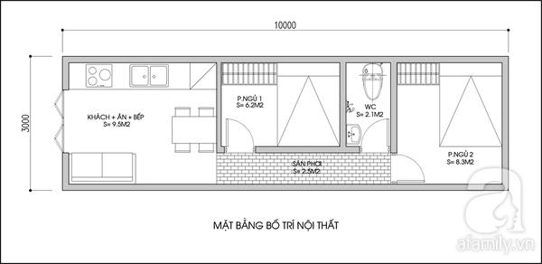 Tư vấn cải tạo nhà tập thể 30m² để ở với bố mẹ chồng 1