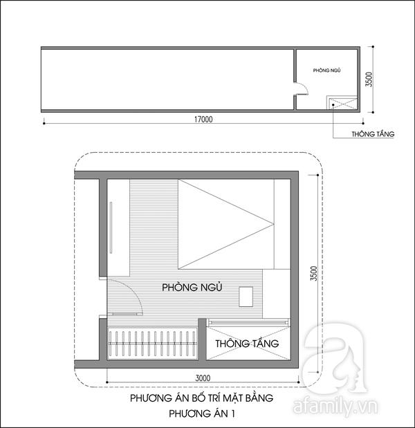 Tư vấn bố trí nội thất phòng 10m² cho vợ chồng son 1