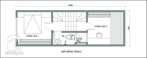 Tư vấn thiết kế để nhà 33m² có giếng trời và nhiều cây xanh 2