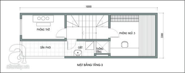 Tư vấn thiết kế để nhà 33m² có giếng trời và nhiều cây xanh 3