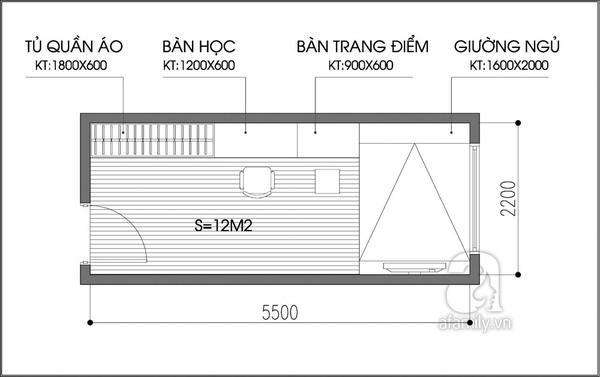 Tư vấn chi tiết cách  bố trí và chọn nội thất cho phòng ngủ 12m²  1