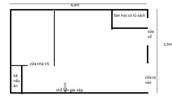Tư vấn bố trí nội thất cho căn phòng 14m² nhiều đồ đạc 1