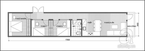 Tư vấn cải tạo căn hộ 60m² 3 phòng ngủ cho hộ gia đình 2