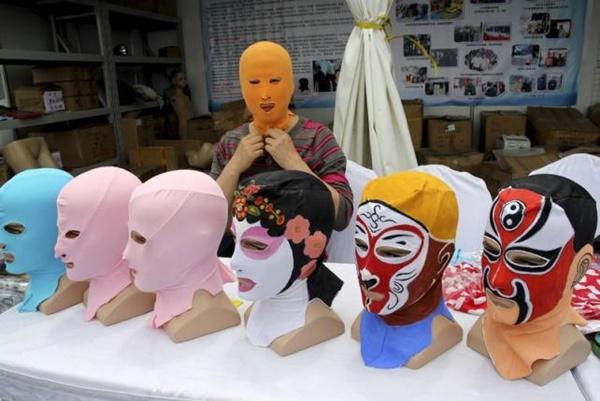 Phụ nữ TQ rộ mốt Face-kini kinh kịch_2