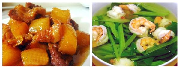 Dù bận rộn tôi vẫn nấu bữa ăn ngon cho vợ 2