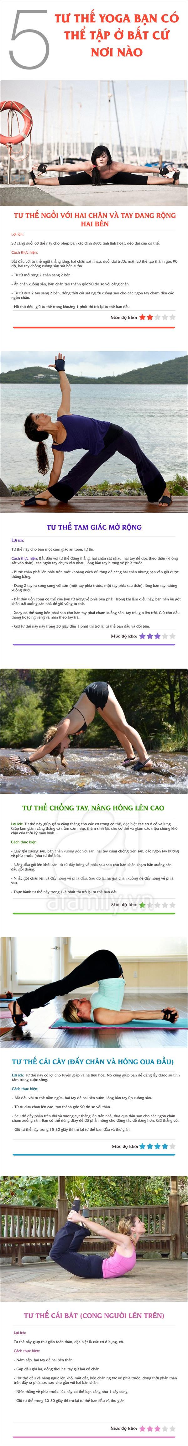 5 tư thế yoga bạn có thể tập ở bất cứ nơi nào 1