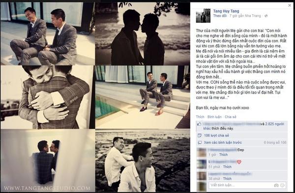 Bức thư mẹ động viên con trai đồng tính trước ngày cưới