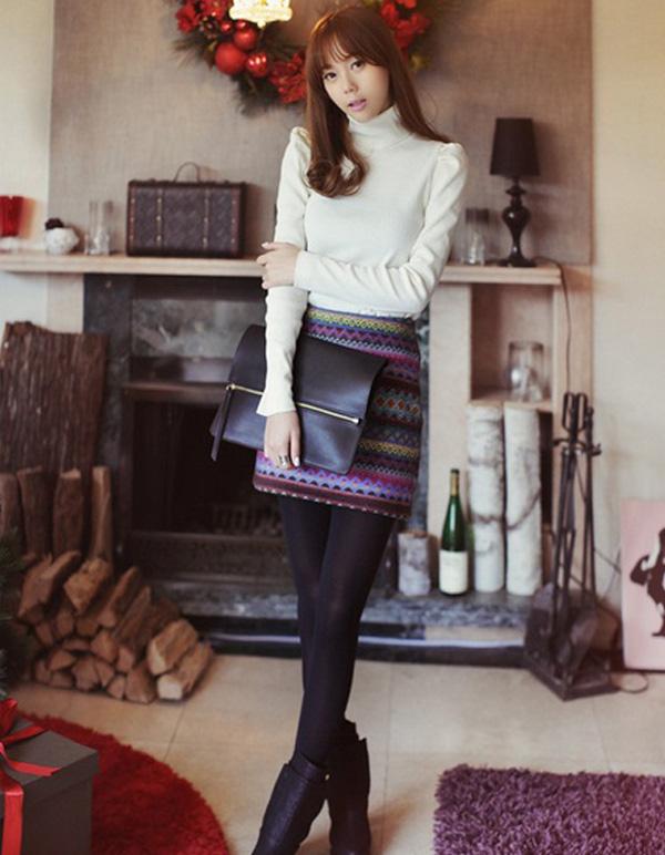 Phối đồ Cùng 4 Kiểu Chân Váy Không Thể Thiếu Của Mùa đông
