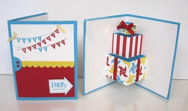 Làm thiệp sinh nhật 3D hình chiếc bánh dễ thương 8