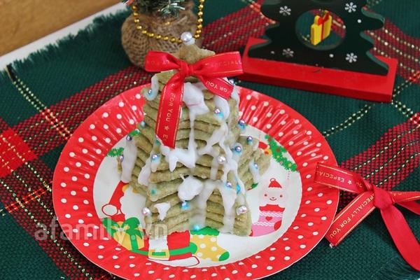 Cây thông Noel siêu tốc từ bánh cookie trà xanh 1