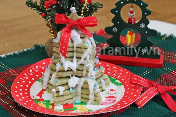Cây thông Noel siêu tốc từ bánh cookie trà xanh 11