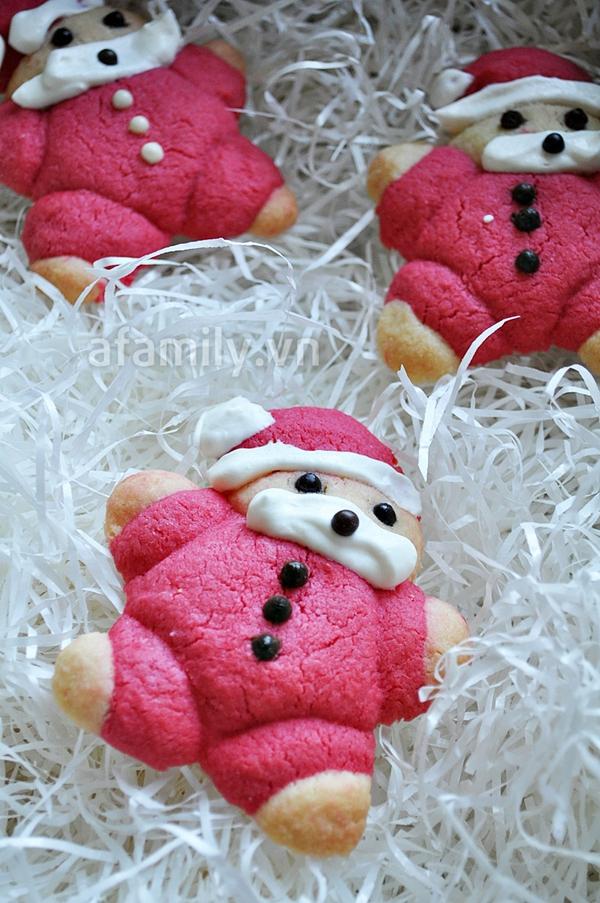 Giáng sinh vui với bánh quy hình ông già Noel 12