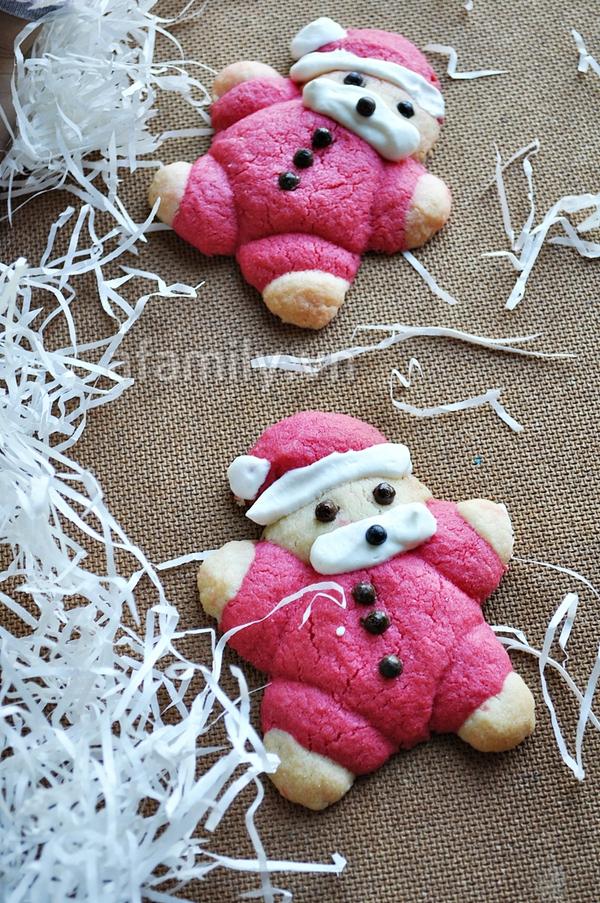 Giáng sinh vui với bánh quy hình ông già Noel 1