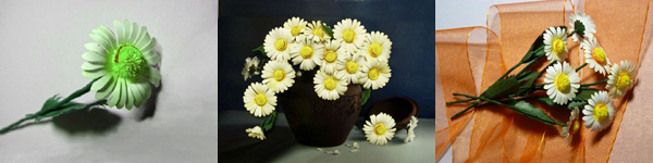 Làm hoa cúc xanh trang trí nhà thêm xinh 12