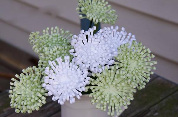 Làm hoa cúc xanh trang trí nhà thêm xinh 1