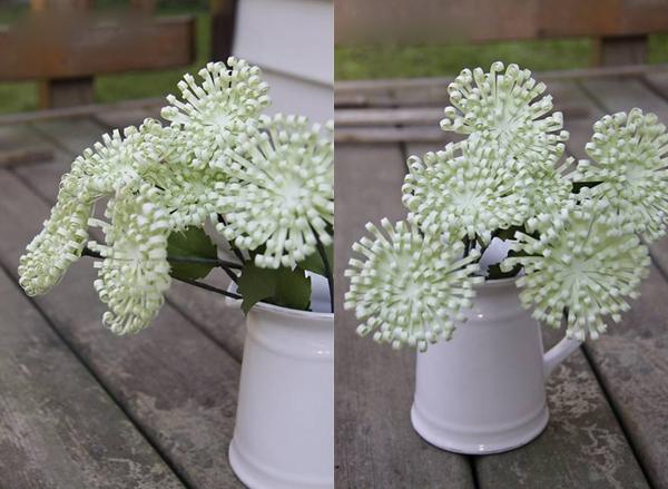 Làm hoa cúc xanh trang trí nhà thêm xinh 10
