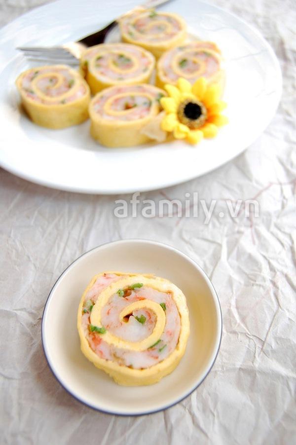 Trứng cuộn tôm lạ miệng ngon cơm 8